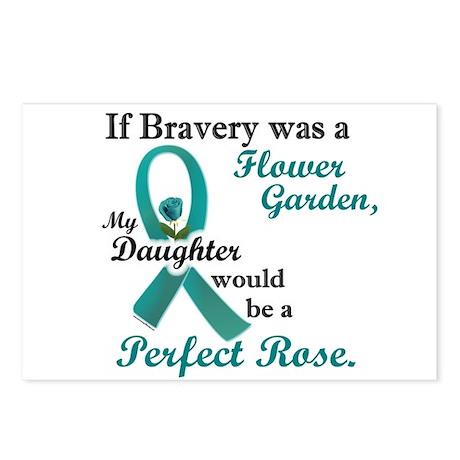 Flower Garden 1 Teal (Daughter) Postcards (Package
