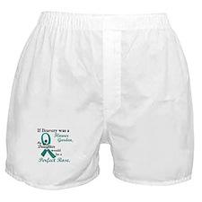 Flower Garden 1 Teal (Daughter) Boxer Shorts