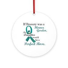 Flower Garden 1 Teal (Daughter) Ornament (Round)