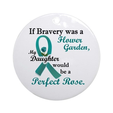 Flower Garden 1 Teal (Daughter) Ornament (Round)