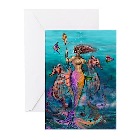 Mermaid Card Greeting Cards