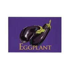 Eggplant/Aubergine Rectangle Magnet