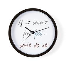 Don't Do It Wall Clock