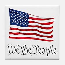 W.T.P. W/Flag Tile Coaster
