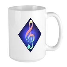 Large Treble Clef Mug
