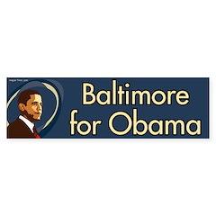 Baltimore for Obama bumper sticker
