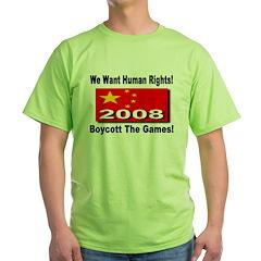We Want Human Rights! Boycott T-Shirt