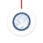 Celtic Mother Moon Design Ornament (Round)