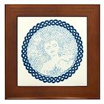 Celtic Mother Moon Design Framed Tile