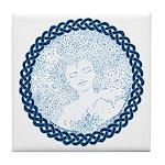 Celtic Mother Moon Design Tile Coaster