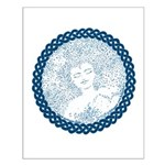 Celtic Mother Moon Design Small Poster