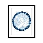 Celtic Mother Moon Design Framed Panel Print