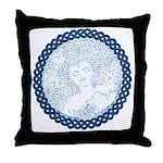 Celtic Mother Moon Design Throw Pillow
