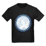 Celtic Mother Moon Design Kids Dark T-Shirt
