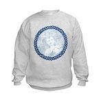 Celtic Mother Moon Design Kids Sweatshirt