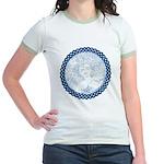 Celtic Mother Moon Design Jr. Ringer T-Shirt