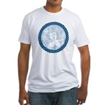 Celtic Mother Moon Design Fitted T-Shirt
