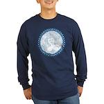 Celtic Mother Moon Design Long Sleeve Dark T-Shirt