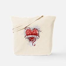 Heart Illinois Tote Bag