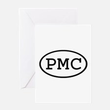 PMC Oval Greeting Card