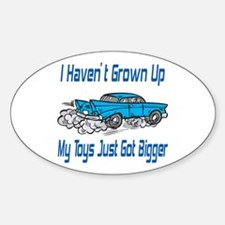 Classic Car Toys Oval Decal