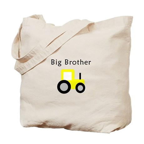 Big Brother - Yellow Tractor Tote Bag
