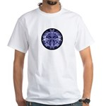 Blue Mystery Function White T-Shirt