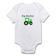 Big Brother - Lime Tractor Infant Bodysuit