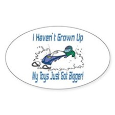 Snowmobile Toys Oval Decal