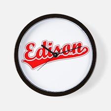 Retro Edison (Red) Wall Clock