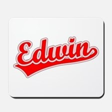 Retro Edwin (Red) Mousepad