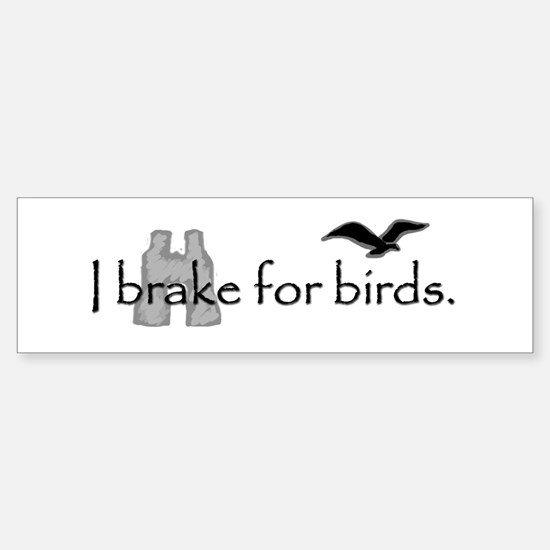 Birding Bumper Car Car Sticker