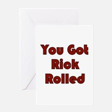 Rick Roll Greeting Cards