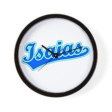 Retro Isaias (Blue) Wall Clock
