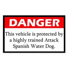 Attack Spanish Water Dog Decal