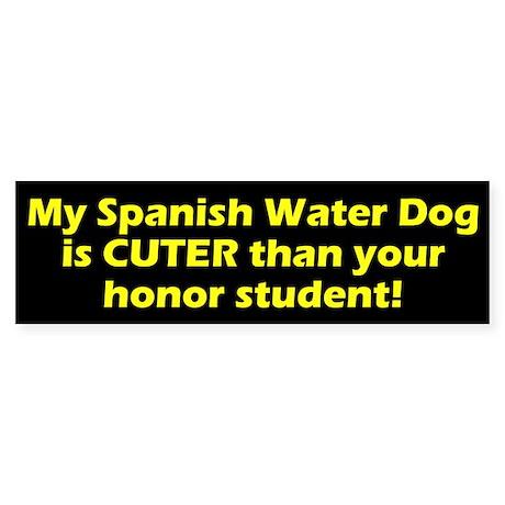 Cuter Spanish Water Dog Bumper Sticker