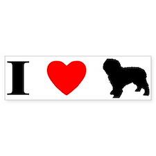 I Love Spanish Water Dogs Bumper Bumper Sticker