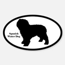 Spanish Water Dog Silhouette Sticker (Euro Style)