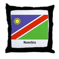 Namibia Namibian Flag Throw Pillow