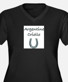 Argentine Criollo Women's Plus Size V-Neck Dark T-