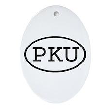 PKU Oval Oval Ornament