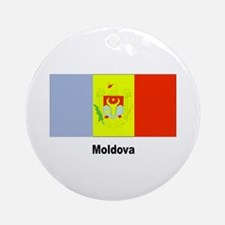 Moldova Moldovan Flag Keepsake (Round)