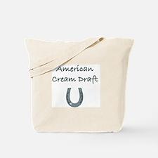 American Cream Draft Horses Tote Bag