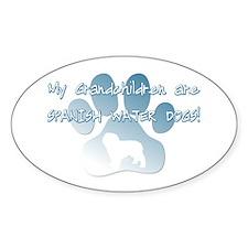 Spanish Water Dog Grandchildren Oval Decal