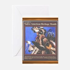 Native American Heritage Mont Greeting Card