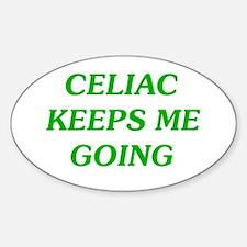 Celiac Keeps Me Going Oval Decal