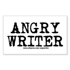 Angry Writer Rectangle Sticker 50 pk)