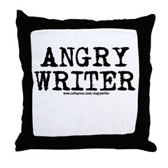 Angry Writer Throw Pillow