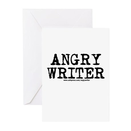 Angry Writer Greeting Cards (Pk of 20)