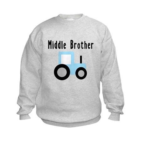 Middle Brother - Light Blue T Kids Sweatshirt